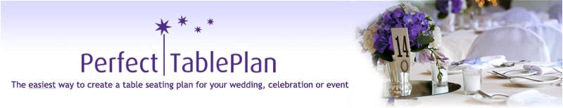 Perfect Table Plan - create a table seating plan for your wedding or event